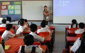 Math class in Singapore