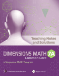 Dimensions Math Teaching Notes 7a