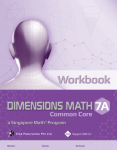 Dimesnsions Workbook 7a