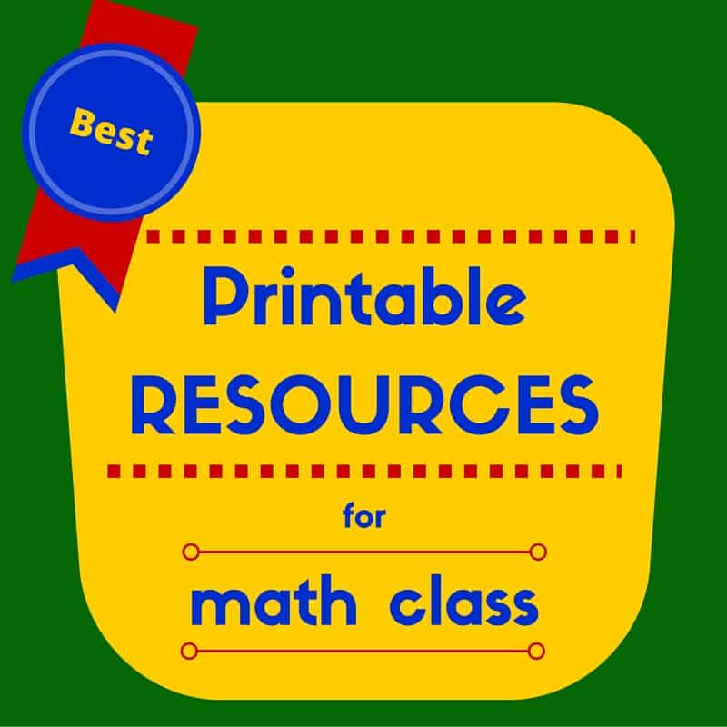 Favorite Printable Math Resources  Singaporemathsource